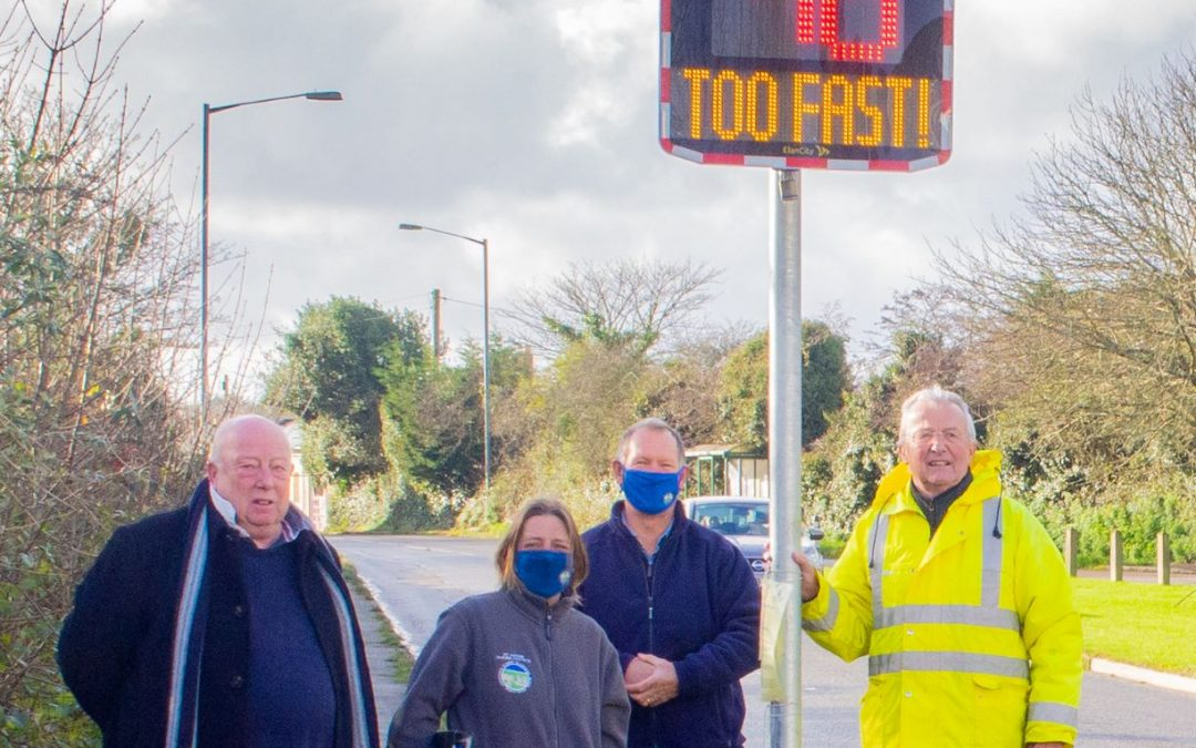 New Road Safety Measures in the Parish – Flashing Speed Signs!